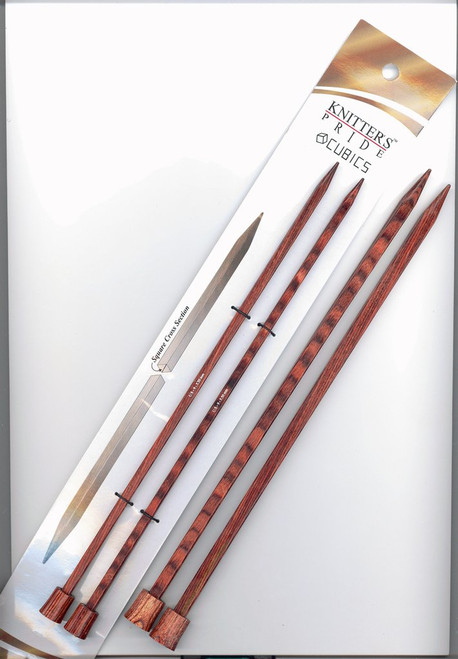 "10"" Cubics Single Point Knitting Needles by Knitter's Pride"