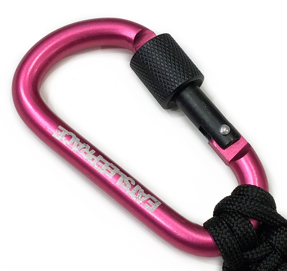 Locking Carabiner Paracord Keychain | Pink