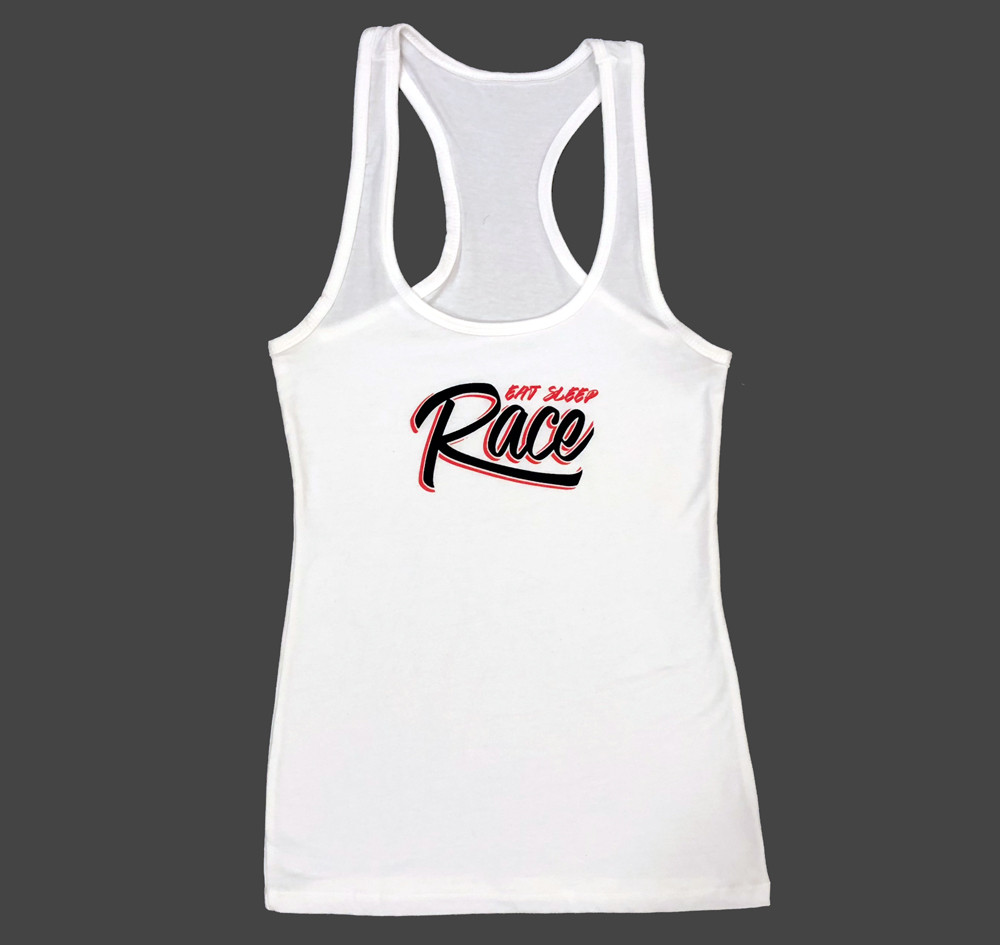 Ladies Graffiti Tank Top | White