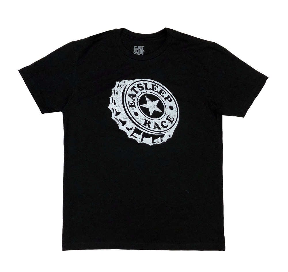Bottlecap Lightweight T-Shirt | Black
