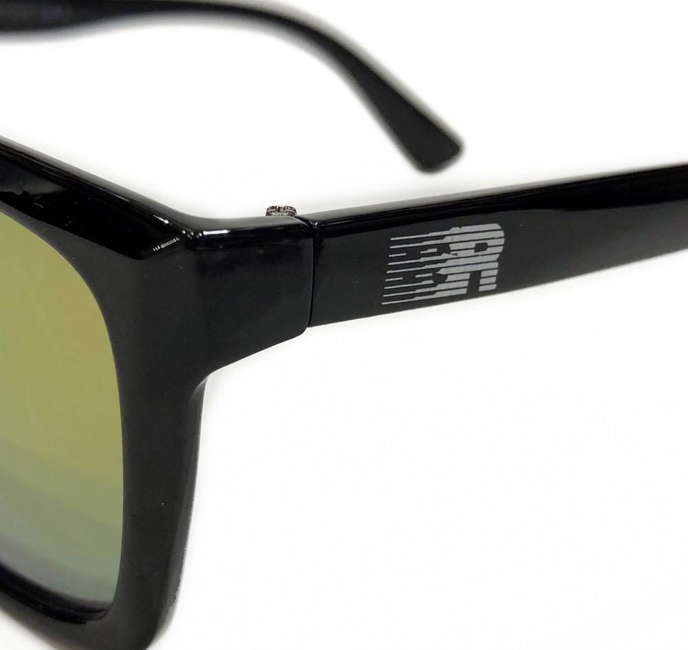 ESR Speed Line Flat Top Sunglasses | Gloss Black/Gold Iridium (UV400) | Pouch