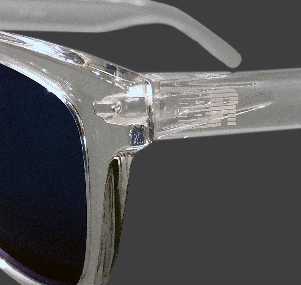 ESR Speed Line Sunglasses | Clear/Blue Iridium (UV400) | Pouch
