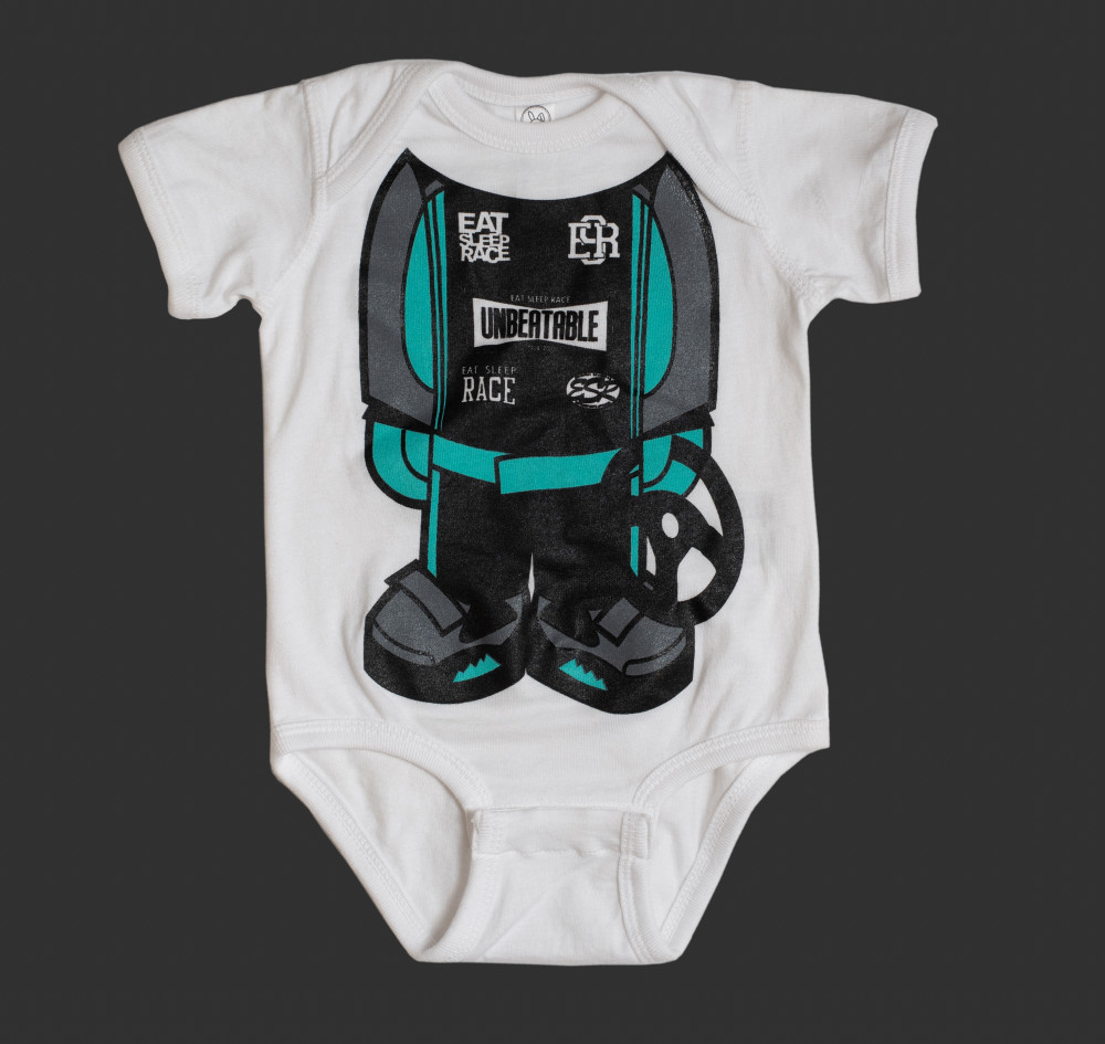 Infant One Piece Racer | Teal