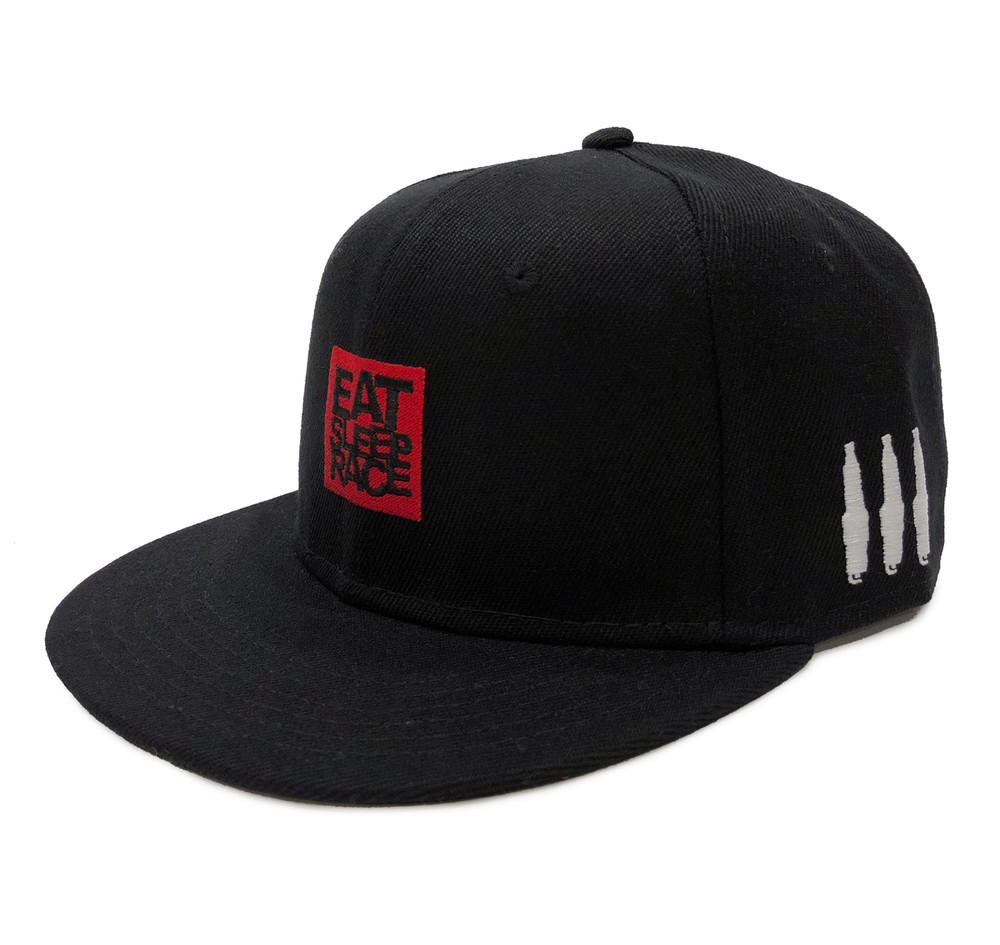 Logo Square Snapback Hat | Black/Red