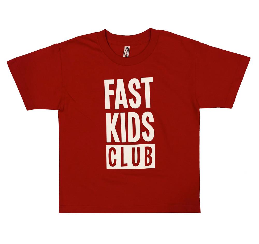 Fast Kids Club Logo T-Shirt | Red