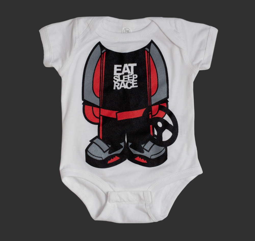 Infant One Piece Racer Logo | Red