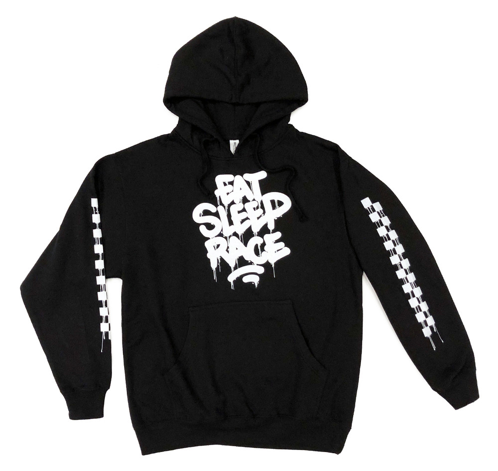 Pull Over Drip Hoodie | Black/White