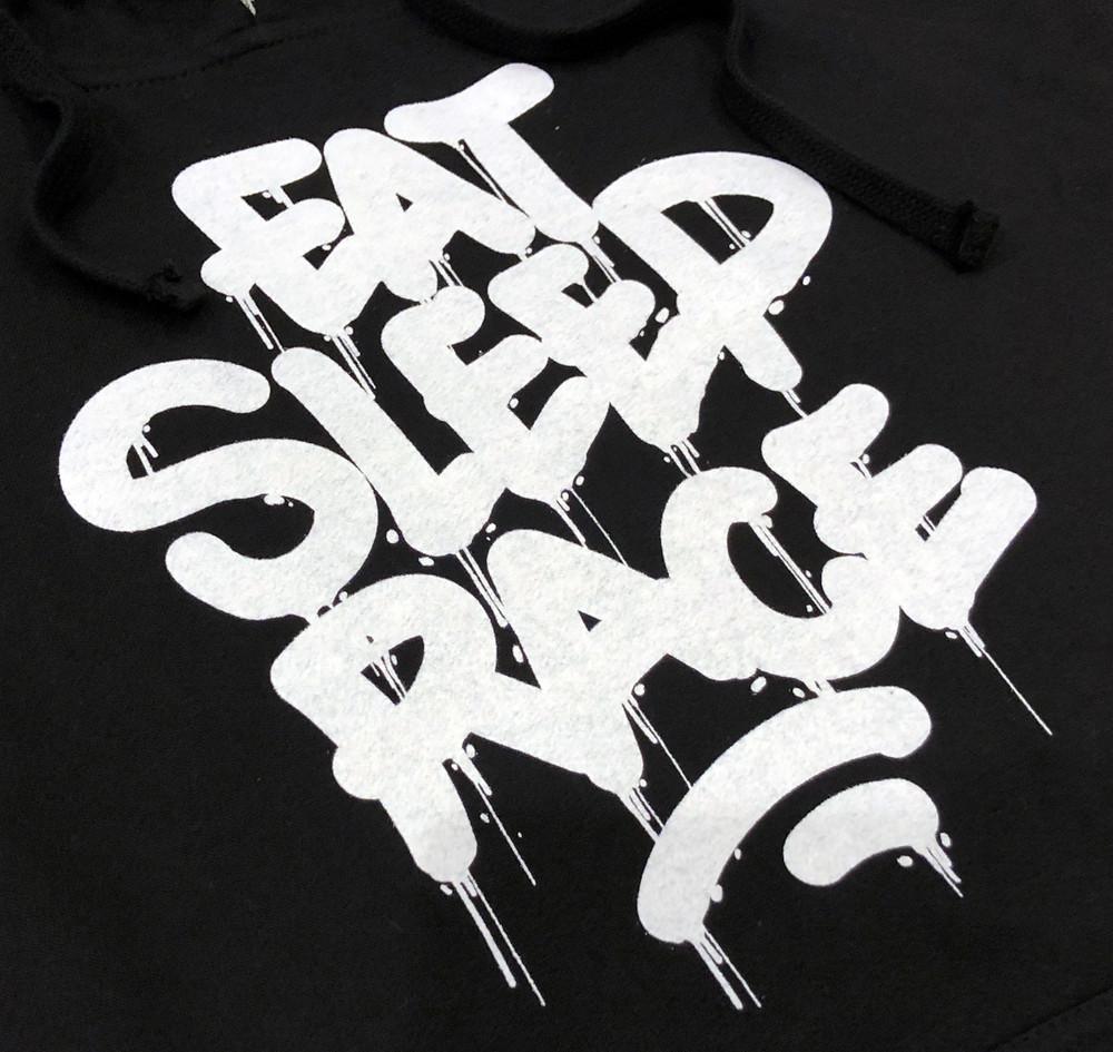Pull Over Drip Hoodie | Black/White