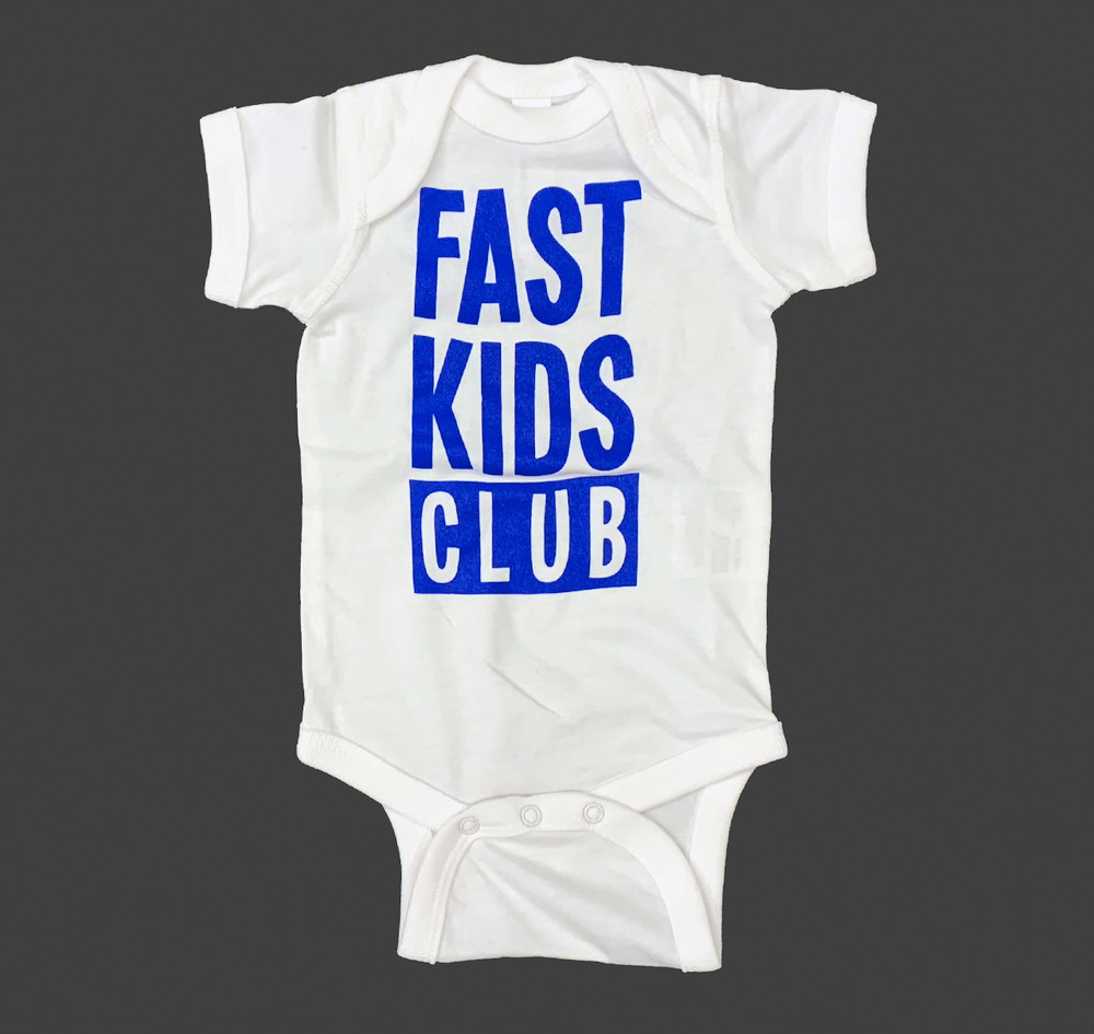 Infant One Piece Fast Kids Club | White/Blue