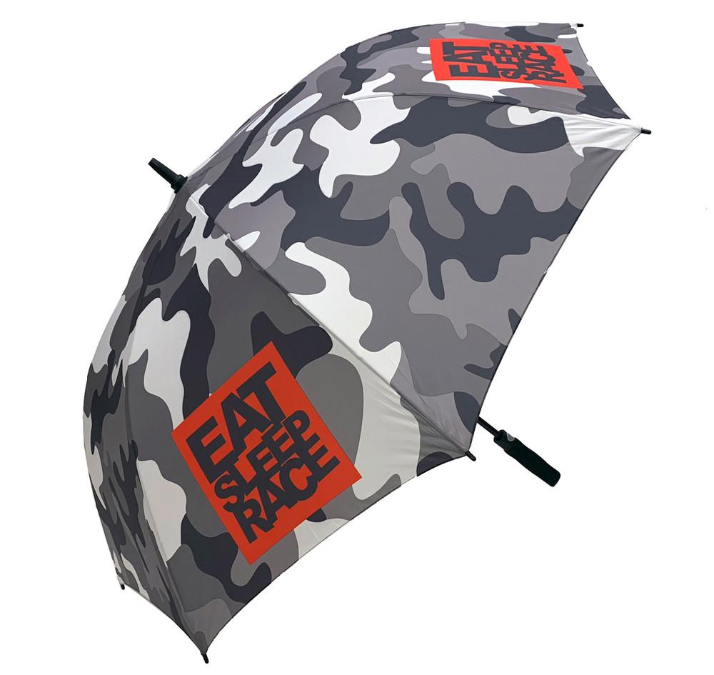 Snow Camo Logo Pattern Umbrella