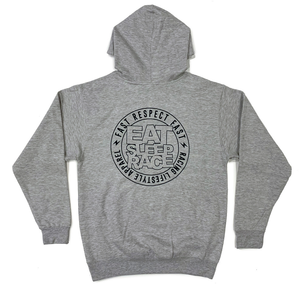 Pull Over Logo Square Hoodie | Grey/Red