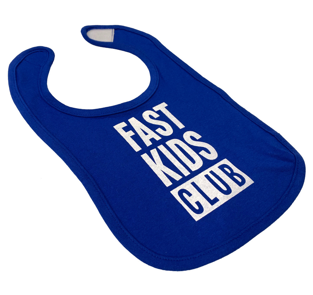 Infant Fast Kids Club Bib | Blue/White