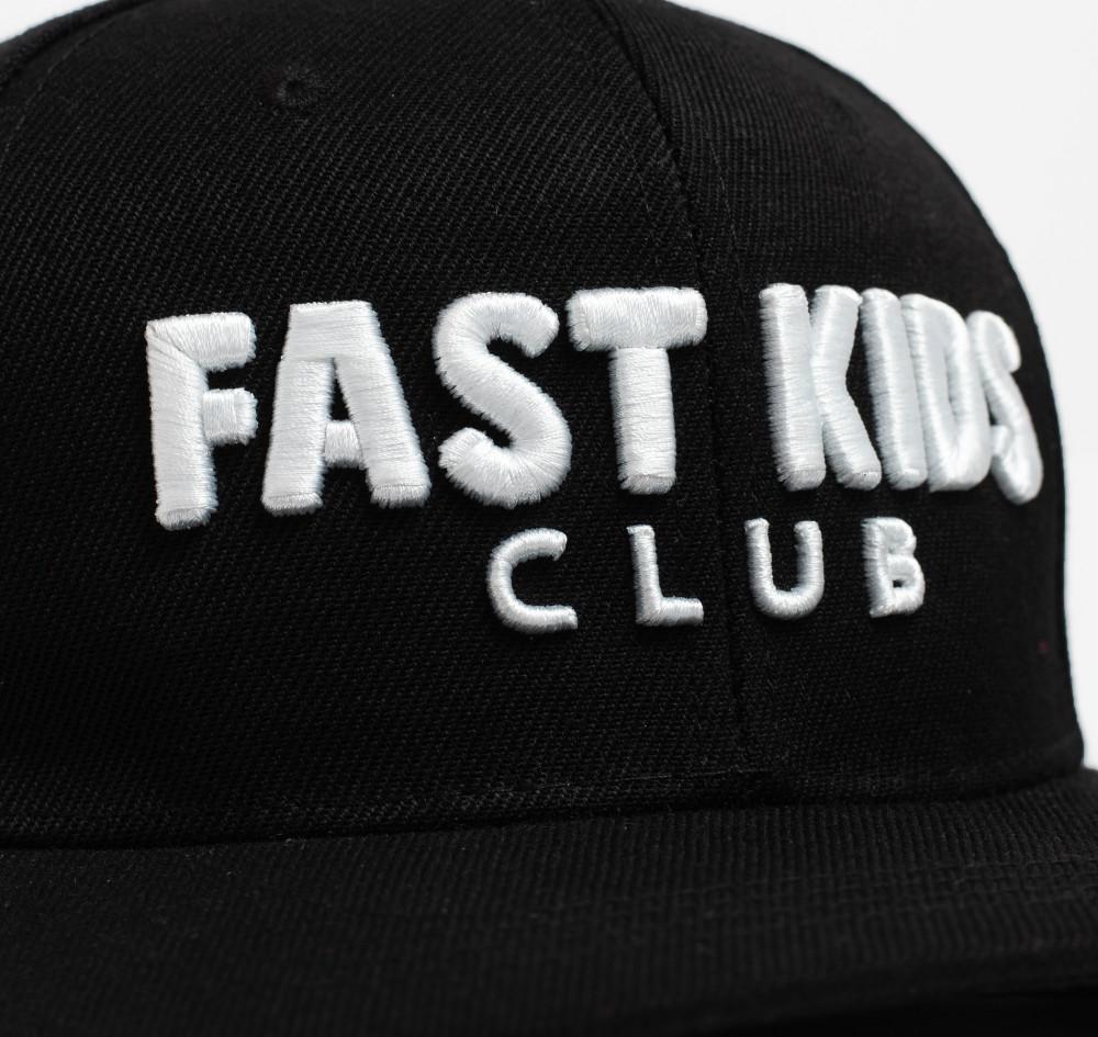 Kids Fast Kids Club Logo Snapback Hat   Black