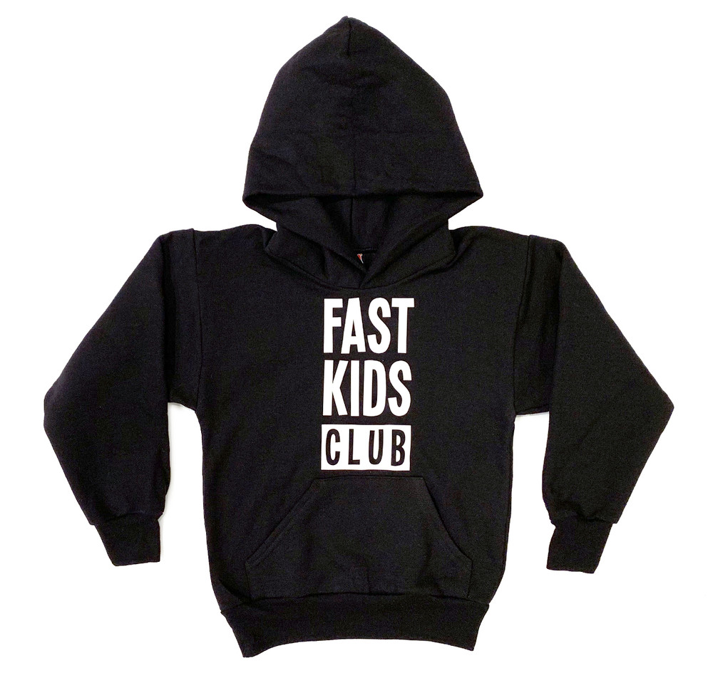 Kids Fast Kids Club Pull Over Hoodie | Black