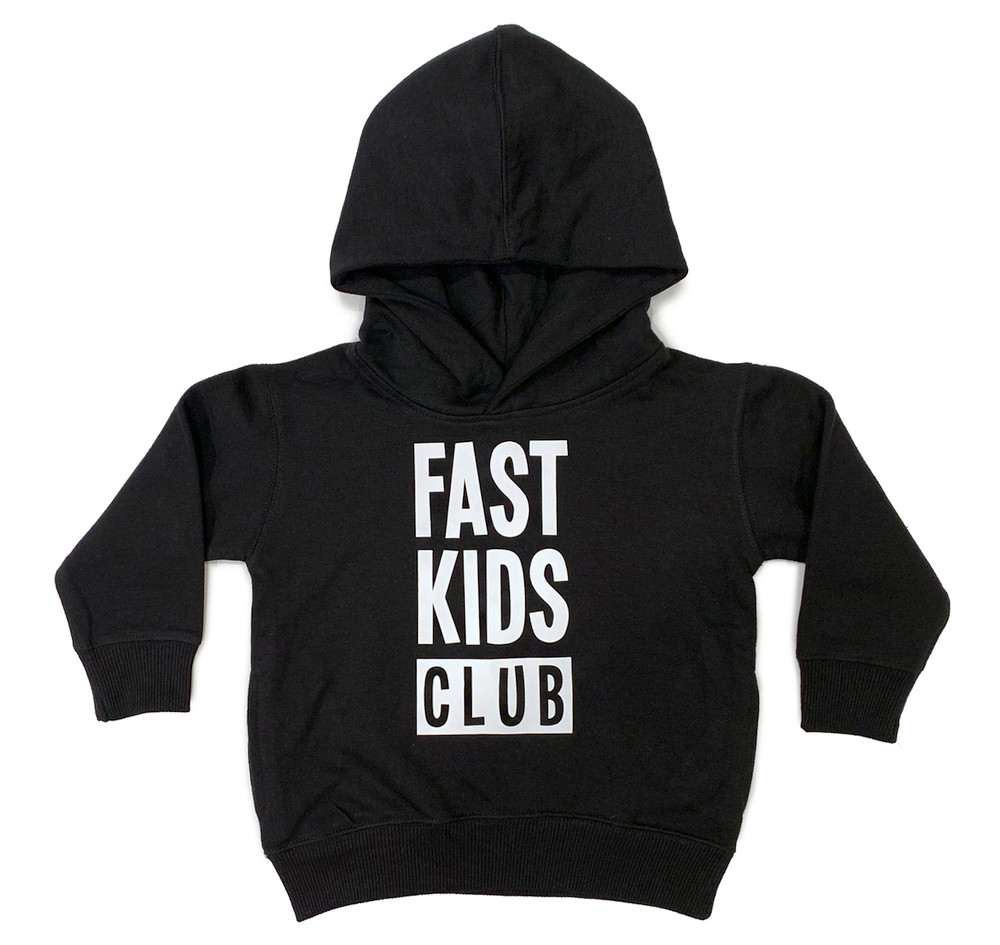 Toddler Fast Kids Club Pull Over Hoodie | Black