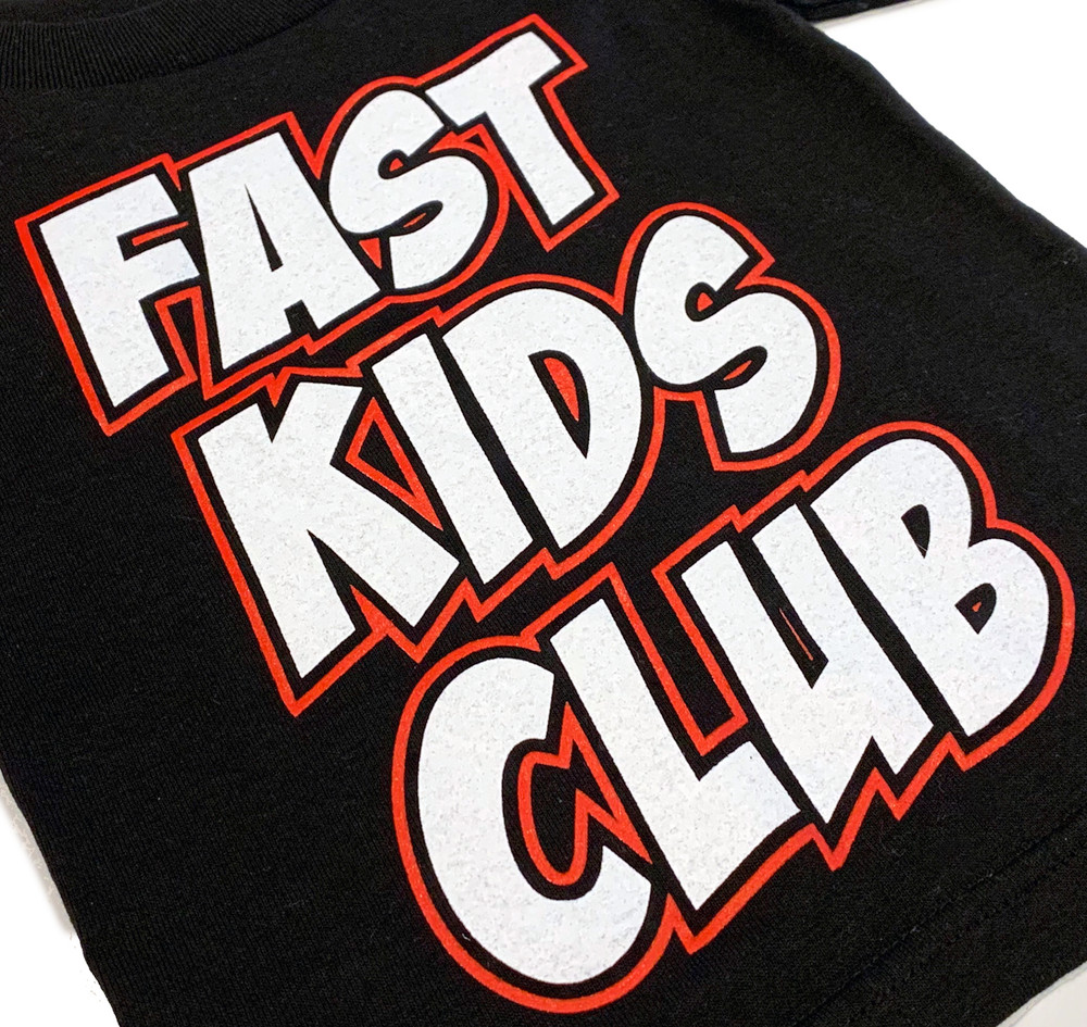 Fast Kids Club Comics T-Shirt | Black/Red