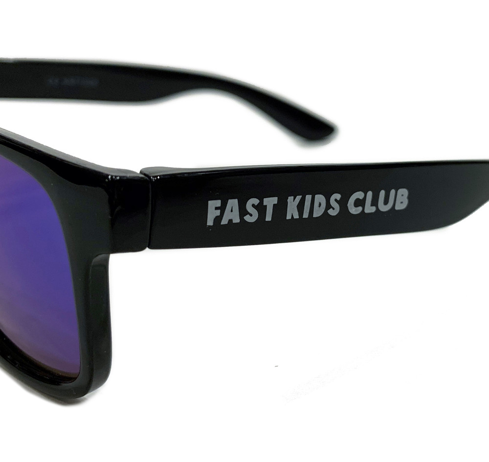 FKC Kids Sunglasses | Black/Blue Iridium (UV400)