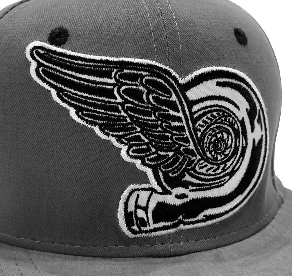 Turbo Wing Snapback Hat | Grey