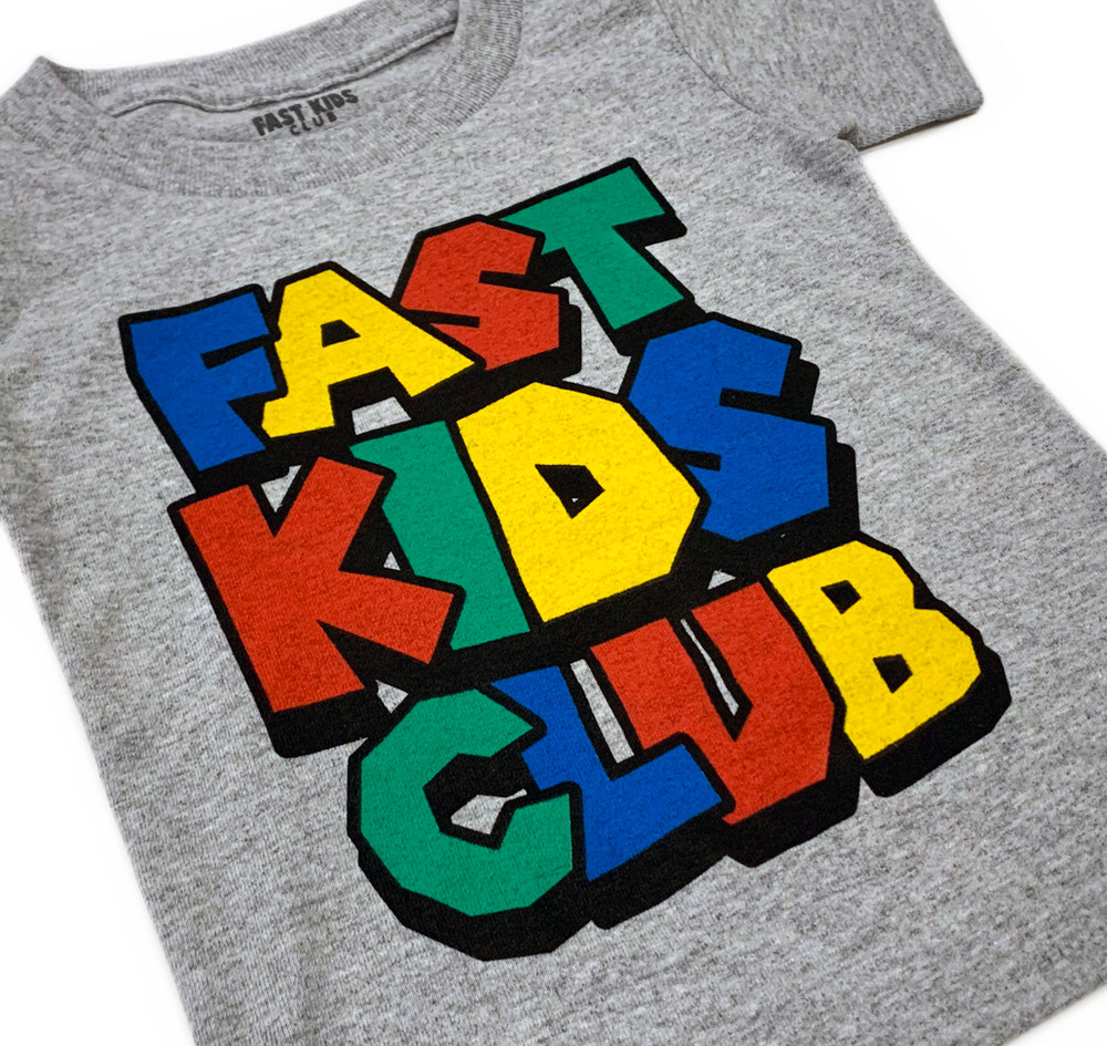 Fast Kids Club Super T-Shirt | Grey