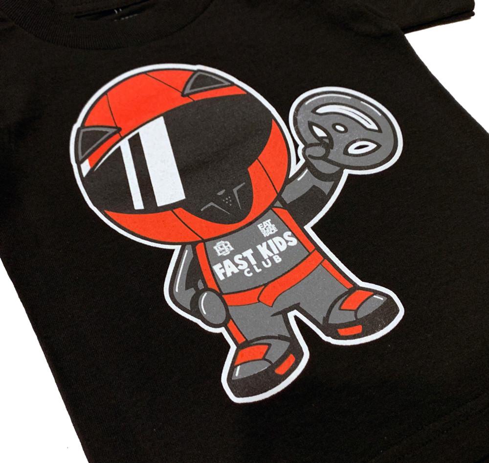 Fast Kids Club Racer T-Shirt | Black