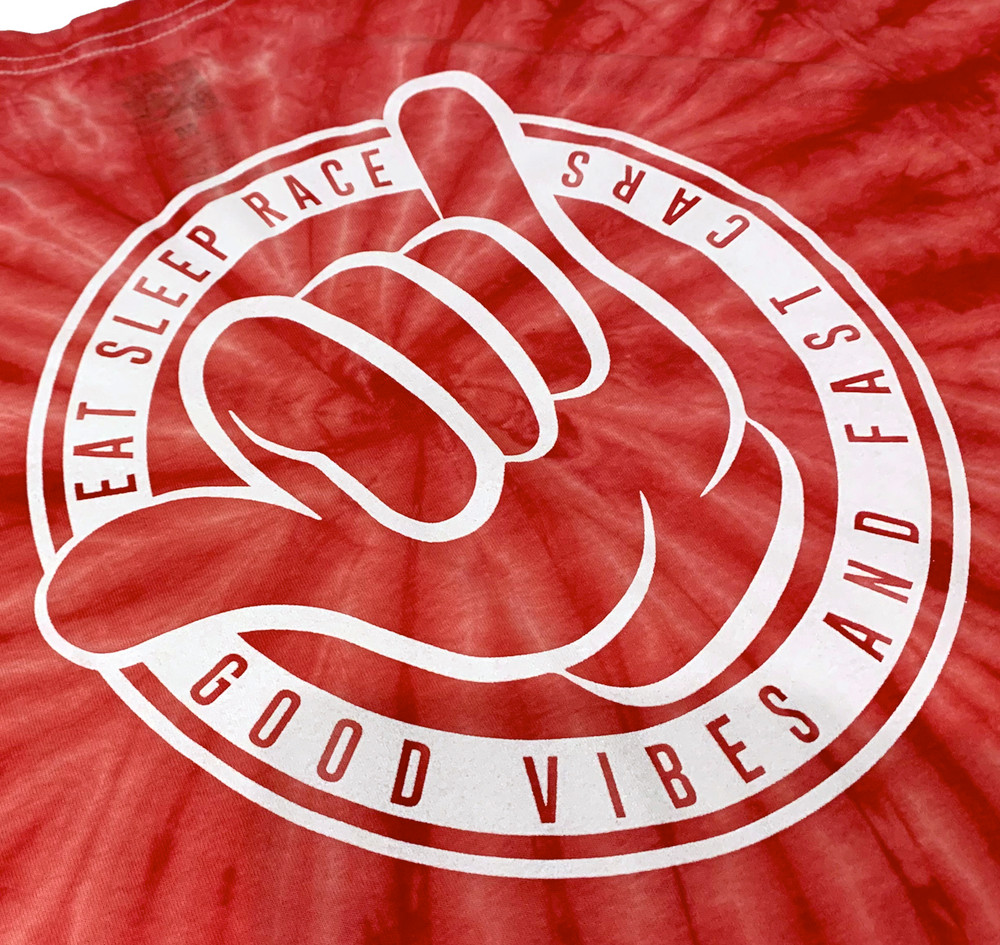 Good Vibes T-Shirt | Red Tie Dye
