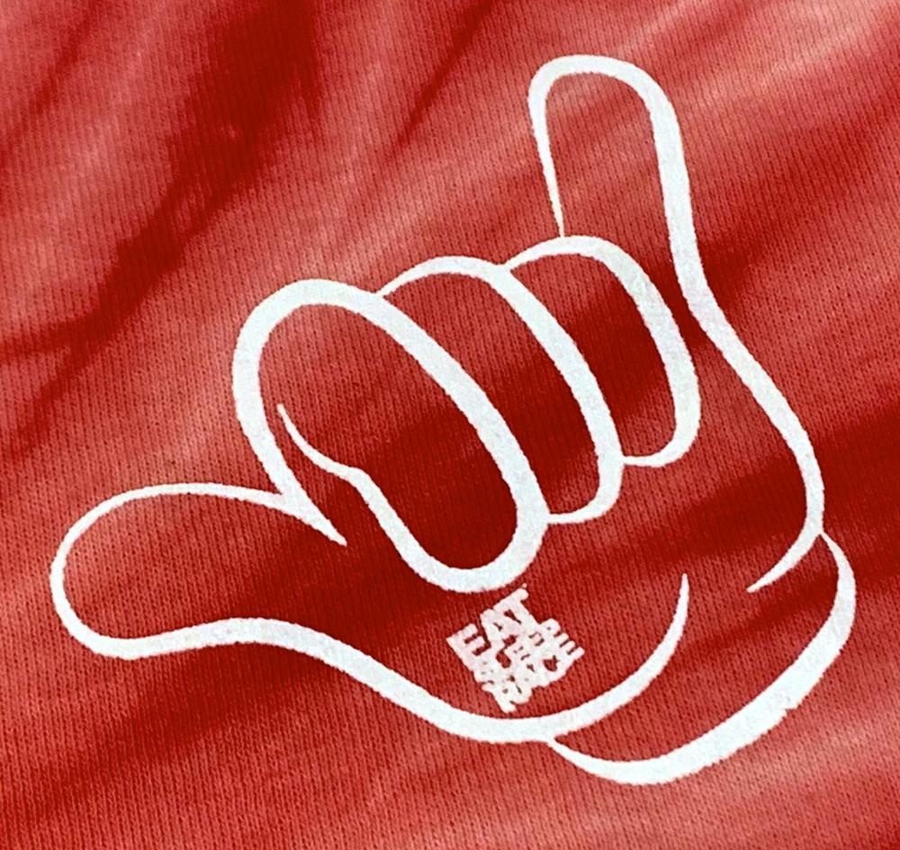 Good Vibes T-Shirt   Red Tie Dye
