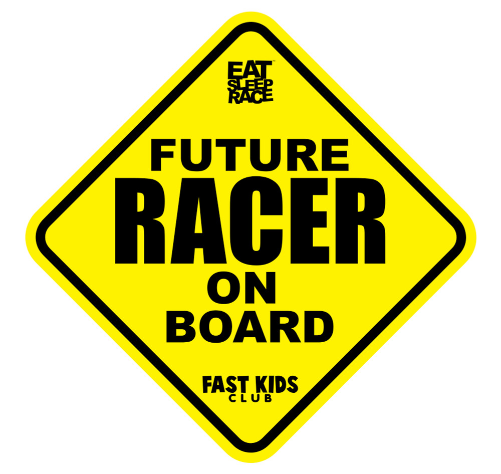 Future Racer on Board Car Decal | Yellow