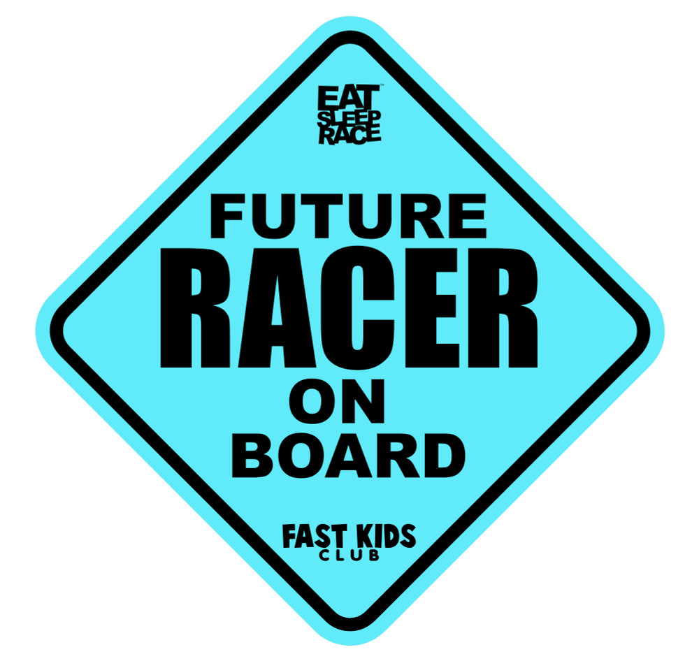 Future Racer on Board Car Decal | Blue