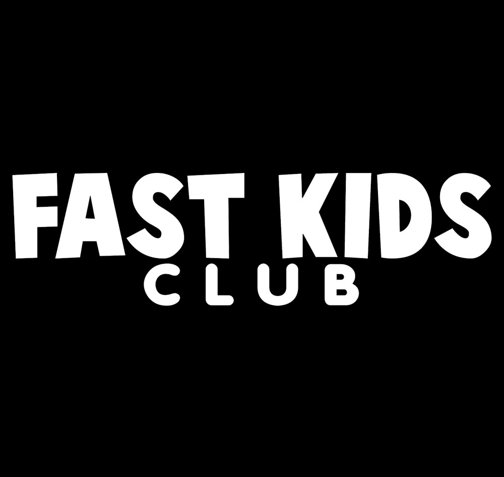 Fast Kids Club Logo Vinyl Decal | White