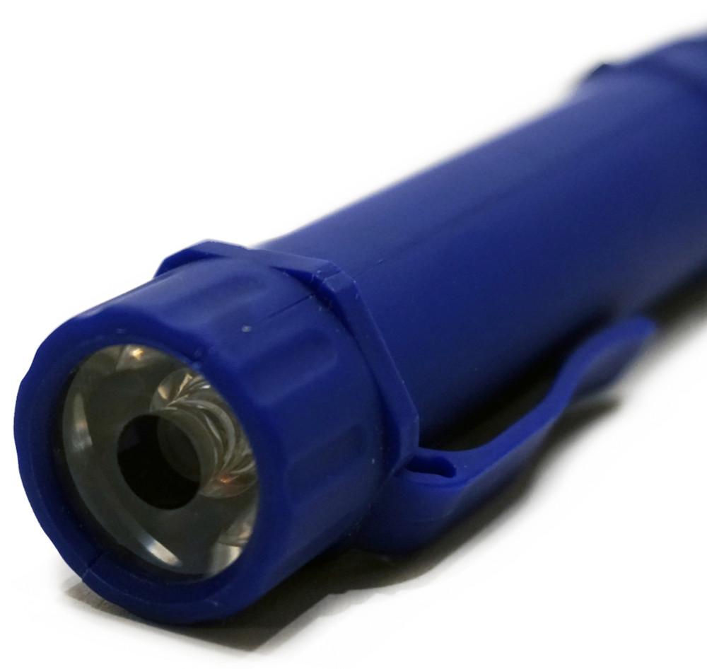 2 in 1 LED Flashlight w/ Magnetic Base | Blue