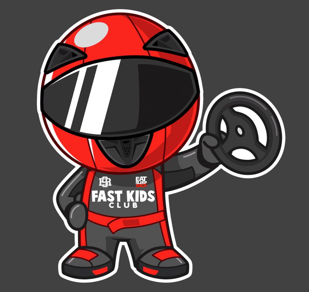 Ricky Racer Sticker | Red