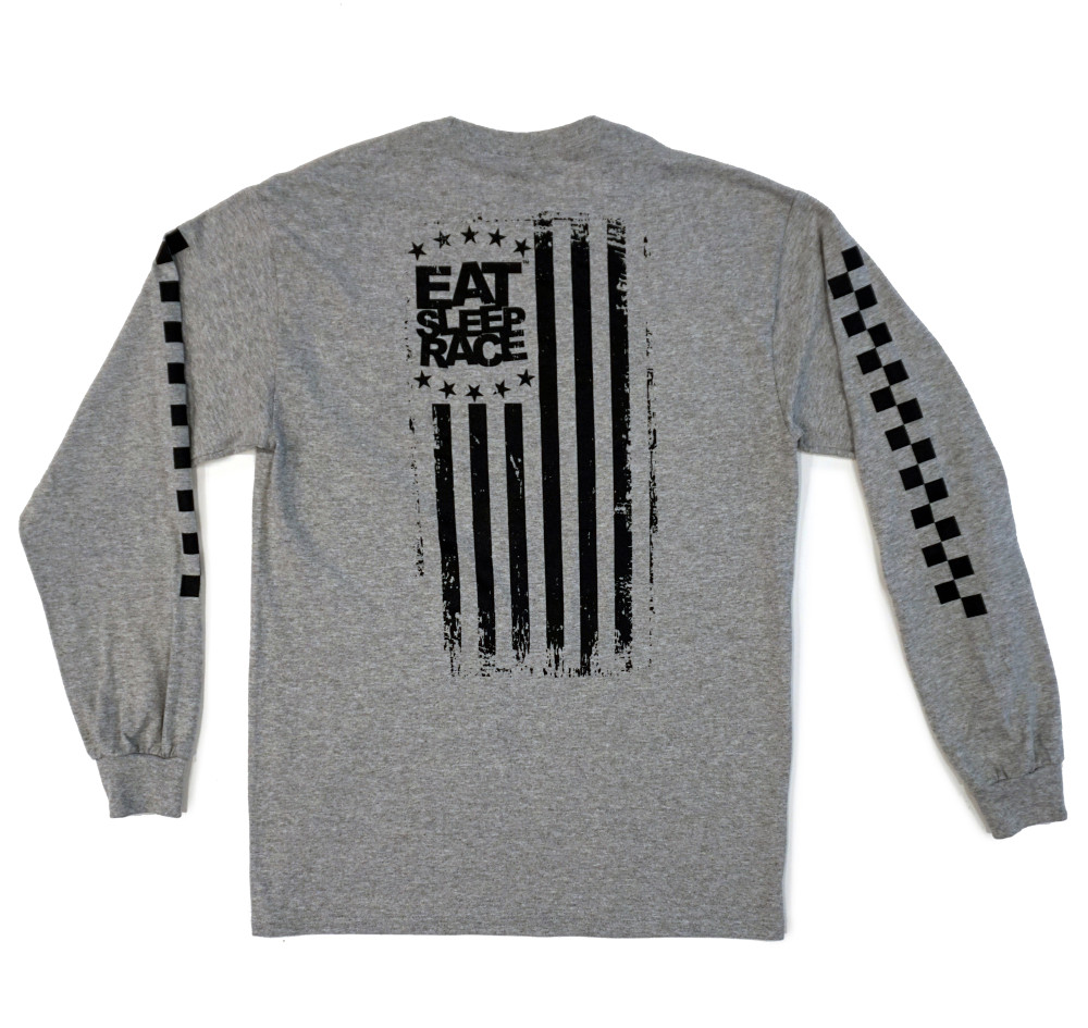 Flag Long Sleeve Shirt | Grey