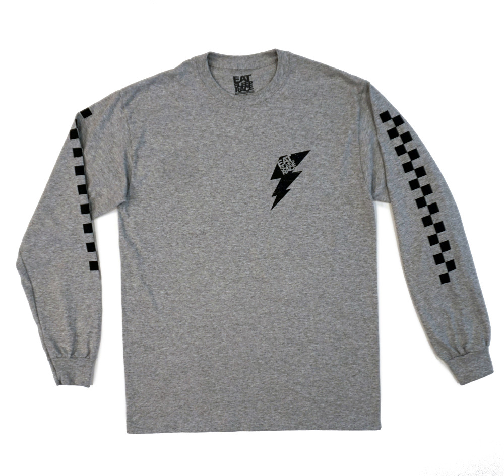 Flag Long Sleeve Shirt | Grey