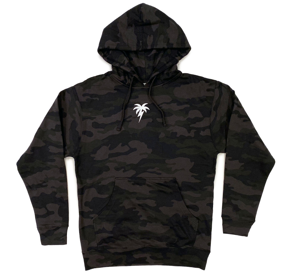 Bolt Palm Pullover Hoodie | Black Camo