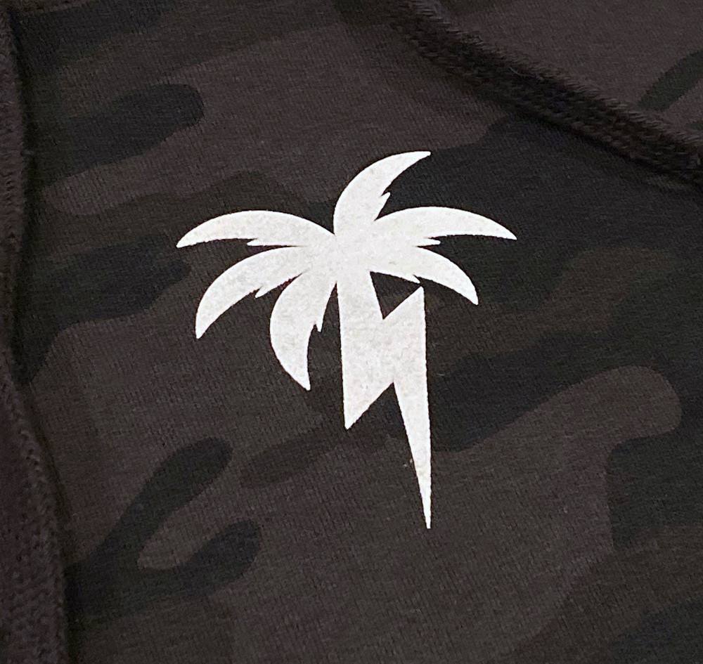 Bolt Palm Pullover Hoodie | Black Camo