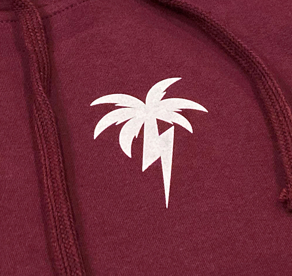 Bolt Palm Pullover Hoodie | Maroon