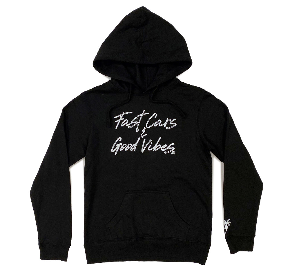 Ladies Pull Over Hoodie Bolt Palm | Black