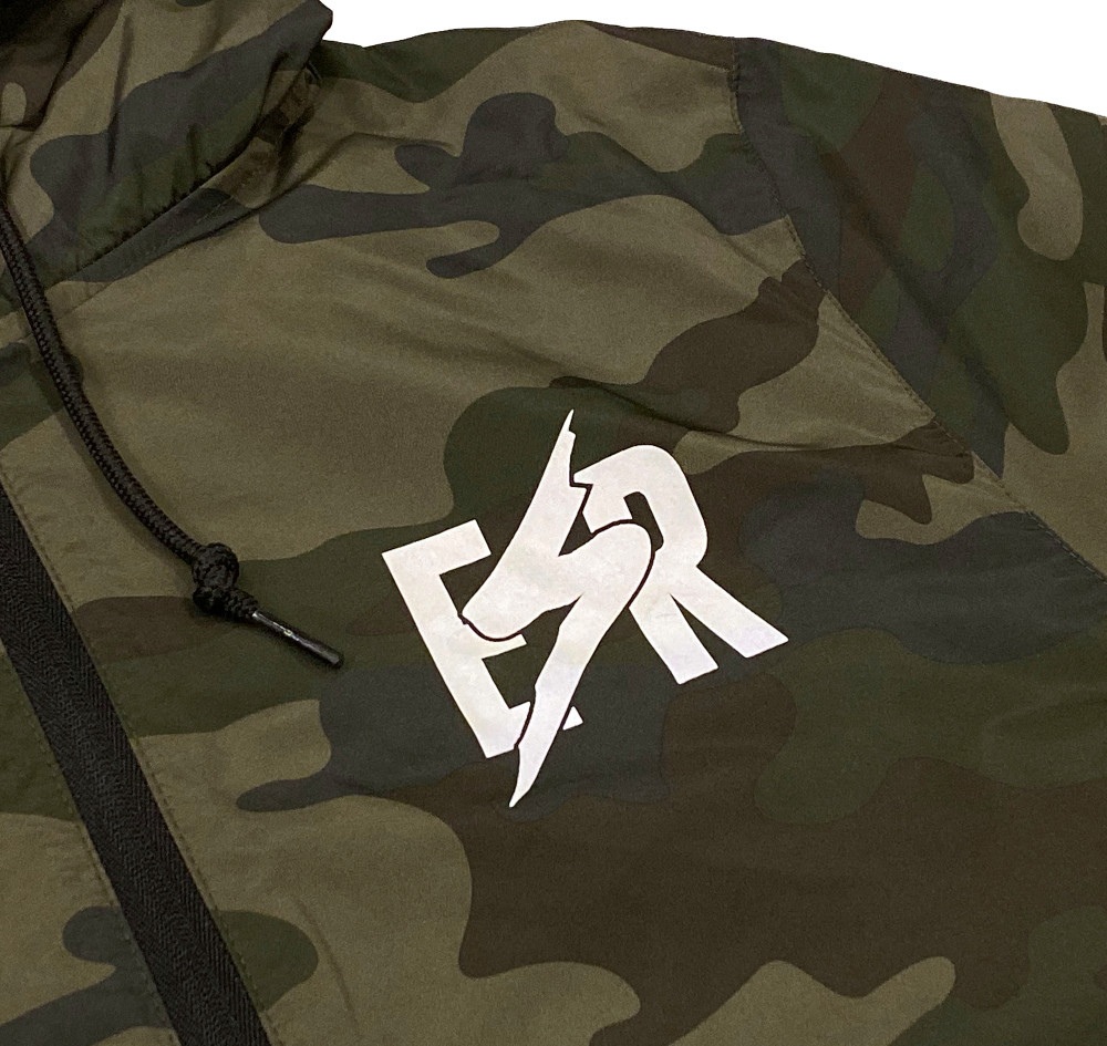Emblem Windbreaker Jacket | Camo