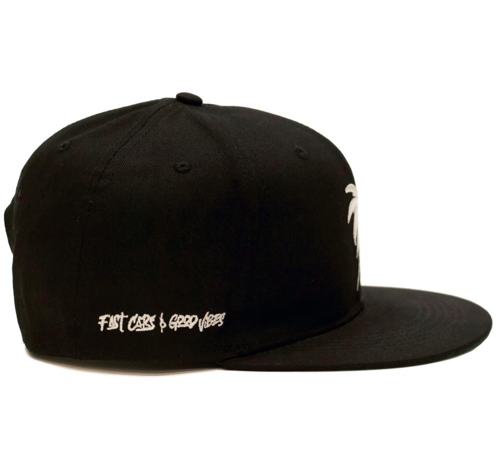 Bolt Palm Snapback Hat | Black/White
