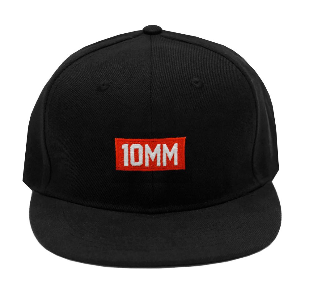 10mm Snapback Hat | Black/Red