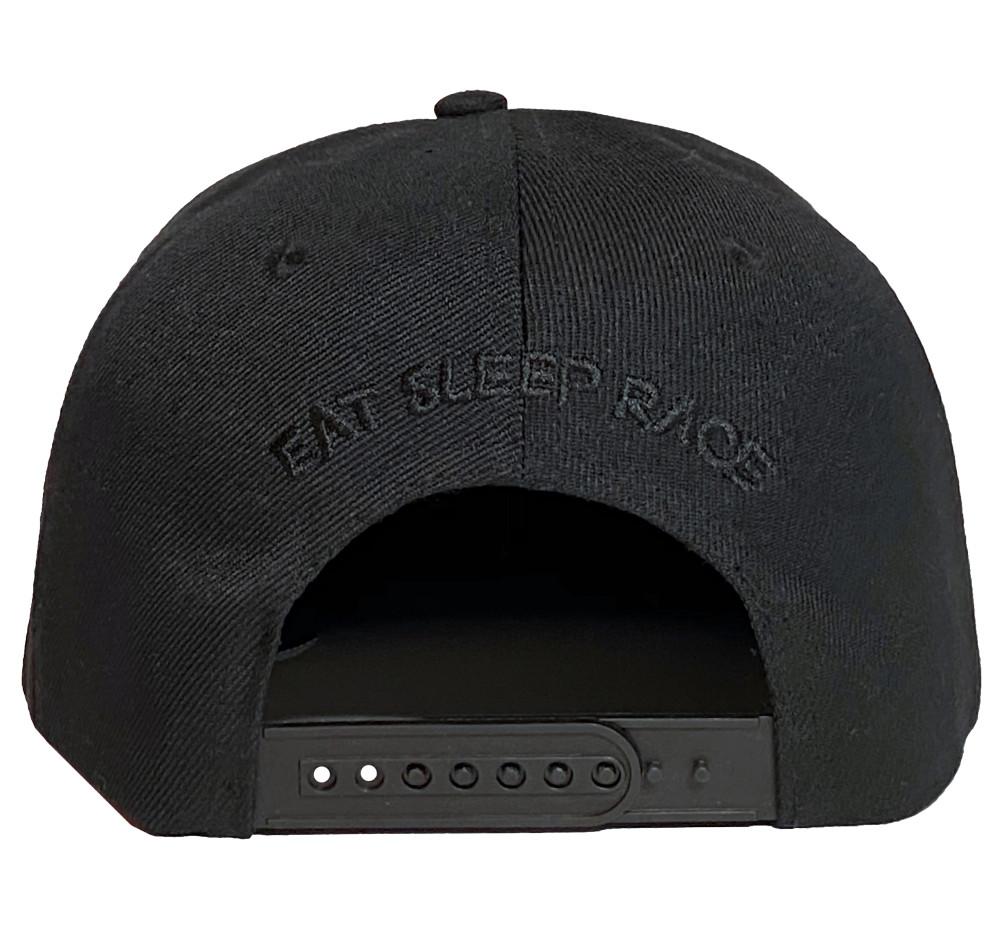 10mm Snapback Hat   Black/Red