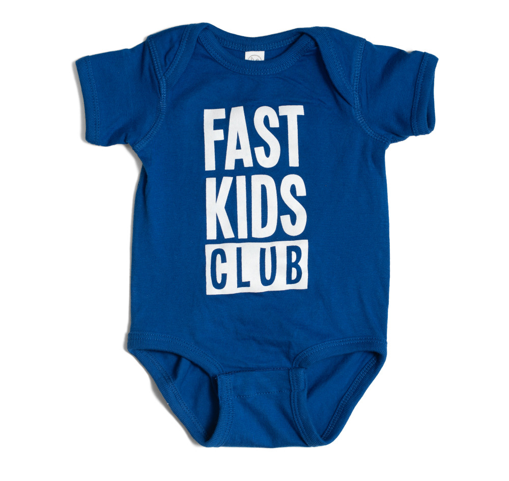 Infant One Piece Fast Kids Club | Blue/White