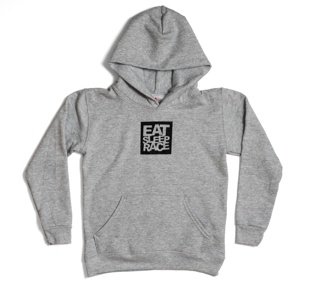 Kids Logo Square Pull Over Hoodie | Grey/Black