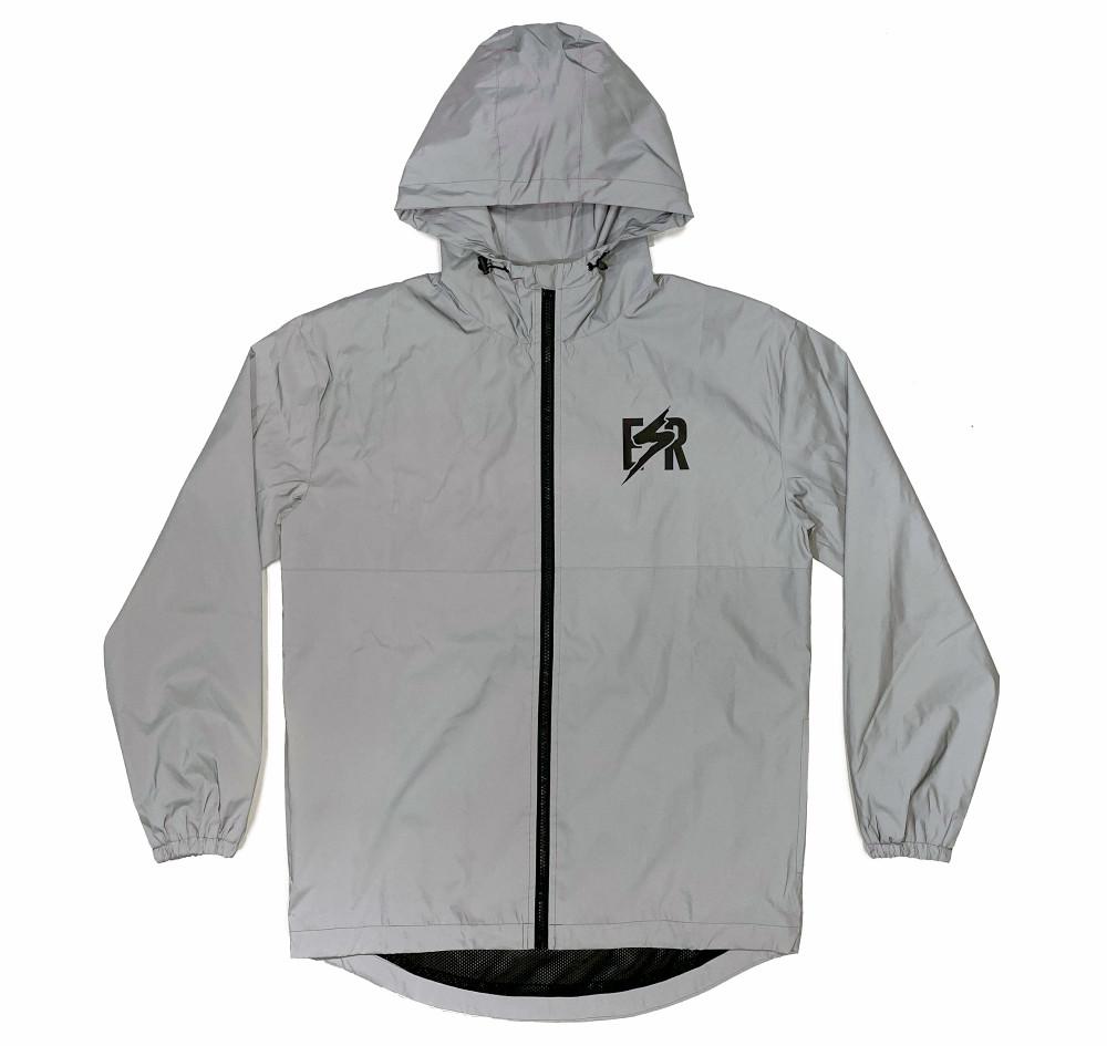Emblem Windbreaker Jacket   Reflective