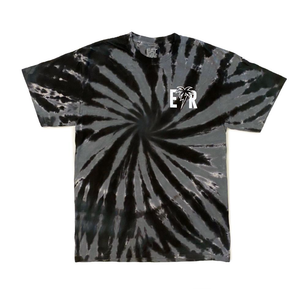 Bolt Palm T-Shirt | Black Tie Dye