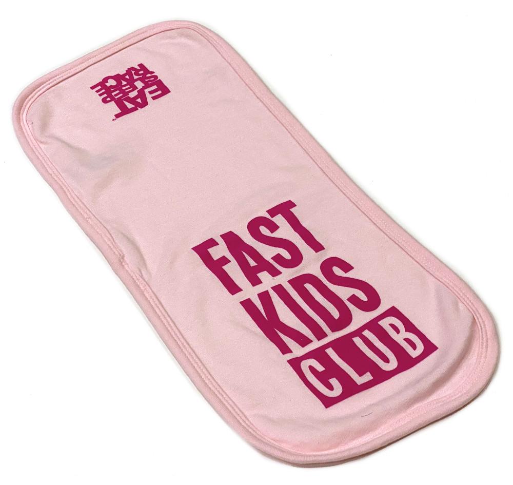 Infant Fast Kids Club Burp Cloth | Pink/Magenta