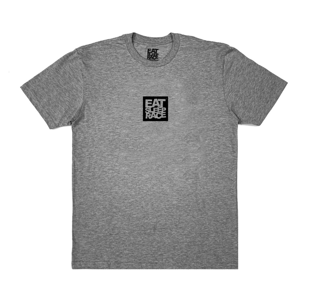 Logo Square Lightweight T-Shirt | Grey/Black