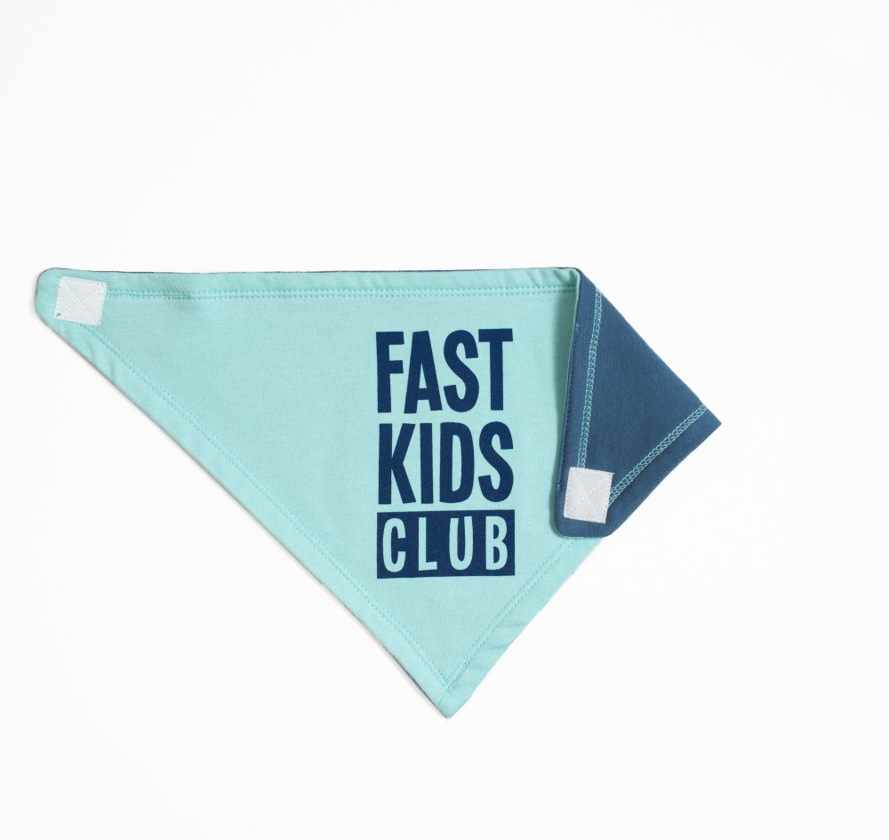 Infant Fast Kids Club Bandana Bib | Blue