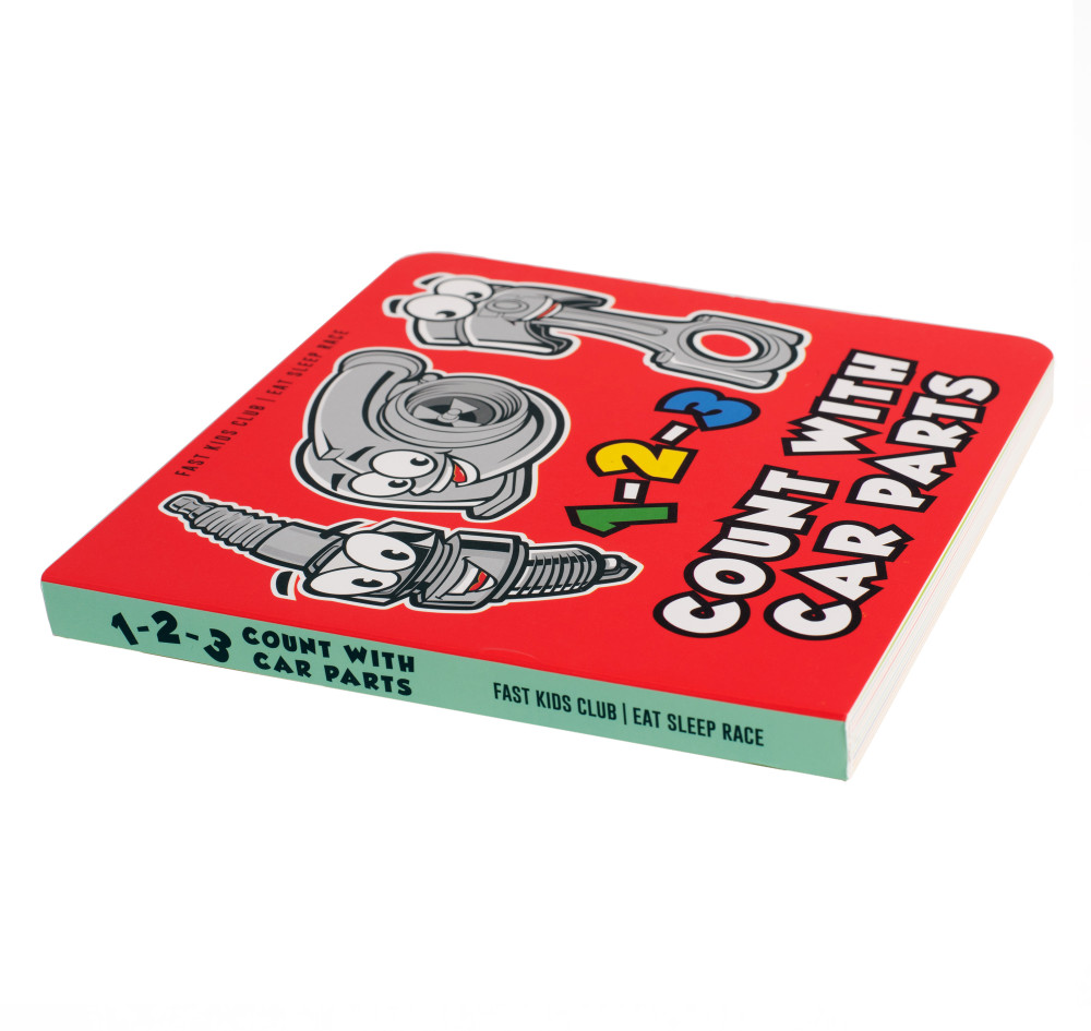 123 Count with Car Parts Book