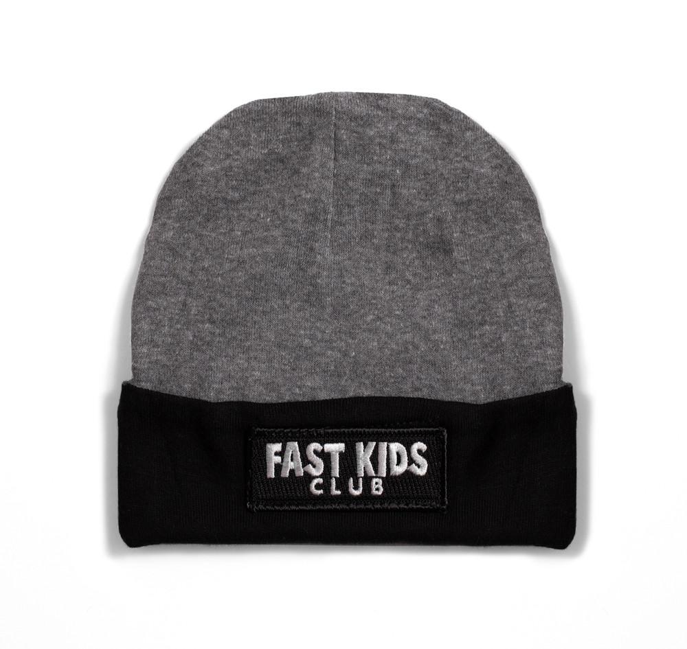 Toddler Fast Kids Club Beanie | Grey/Black